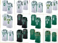 2021 Hommes Vintage Jersey de basketball rétro Jayson 0 Tatum Shirts Kemba 8 Walker Black Bleu Blanche Taille S-2XL