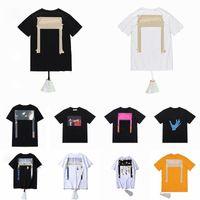 Sommer Herren Frauen Designer T-shirts Lose T-Shirts Mode Marken Kreuz Tops Mann S Casual Shirt Luxus Kleidung Straße Shorts Sleeve Kleidung Paare T-shirts 2021