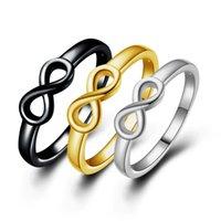 Gold Argent Couleur Infinity Bague Eternité Main Charms Good Friend Cadeau sans fin Symbole Symbole Fashion Bijoux pour Femmes Vente en gros