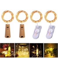 LED Dize Işık Su Geçirmez Bakır Mini Peri DIY Cam Zanaat Şişe Işıkları Noel Lambası 2 m 20 leds