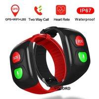 كبار السن الرجل العجوز القديم GPS + WIFI موقف السباحة معدل ضربات القلب sos التطبيق مراقب عن بعد استدعاء الذكية الفرقة ووتش سوار smartband مكافحة فقدت إنذار