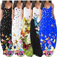 Womens Maxi 층 길이 드레스 원피스 세트 드레스 여름 민소매 갤러스 옷 고품질 슬림 우아한 고급 클럽웨어 D439