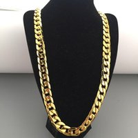 12mm Thick Boys Mens Chain Cut Curb Yellow Gold Filled Bling Necklace GF Wholesale Jewelry Hip Hop Gift Chains