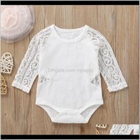 Baby Lace Rompers Infant Solid Colors Long Sleeve Romper Toddler Onesies Fashion Accesories Girls Casual Outfits Ropa Bebe 577 8G6M6 1E4We