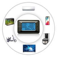 Gerilim Ölçerleri 100A Dijital Metre Enerji LCD 5KW Güç Faktörü Frekansı Voltmetre Ampermetre