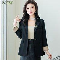 Mode Solide Casual Femmes Slim Blazer One Bouton Design Veste Femme L-3XL Convient aux blazers