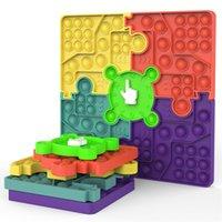 Decompression Fidget Brinquedos Splicing Ponteiro Rotativo Combinado Ponteiro Prevalente Jogo de Puzzle Family Fitgets Sensory Autism Ansiety Ansiety Stress Reliever em