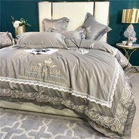 Bedding Sets Luxury Cotton Set Silk Solid Color Duvet  Comforter Cover Egyptian Queen King Size Bed Sheet Pillowcase