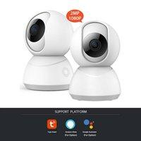 Kameralar 2021 1080 P IP TUYA Kamera Tasarım Ev Güvenlik Gözetim Bulut Kablosuz Ağ Wifi CCTV Bebek Monitörü İki Yönlü Ses
