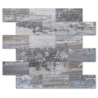 Art3D 10-Blatt 3D-Wandaufkleber, Peel- und Stock-Backplash, Stickon-Fliese für Küchenrückstahl, Badezimmerwaschtische, Kamin Dekor, Wäschetisch, Tapete (11.4x13.5inch)