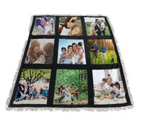 Sublimation White Blank Blanket 9 15 20 Panels Soogan Carpet Square Blankets Theramal Transfer Printing Quilt
