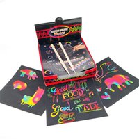 Drawing Toys Scratch Note Set Scratch Doodle Art con 100 Arcobaleno olografico Carta, 2 Stilo, 2 stencil Scratch Magic Notes 1016 x2