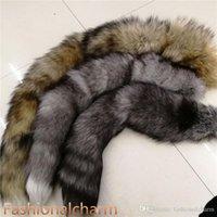 """70 cm / 27 .5 """"-long cola de piel de zorro real Llaveros Cosplay Juguete Llaveros Coche Llavero Bolsa Charm Bañuelos"""