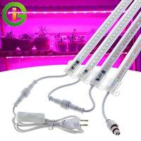AC220V LED Cultive Light Spectrum 72LEDS LED Planta Barra de luz Conector impermeable Phyto Lámparas para plantas de interior plántulas