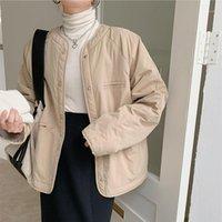 Hzirip New Outono Jaqueta de Inverno Mulheres Pão Roupas Vintage Loose Faux Liner Forro Quente de Algodão Acolchoado Alta Qualidade Parkas1