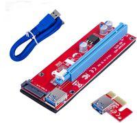 Red Ver007s материнские платы 007S PCI-E Riser PCIE1X TO16X Risers Adapter 60 см USB-кабель для добычи биткойнов