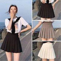 Skirts 2021 Spring Summer Korean Skirt Shorts Women High Waist Sexy Mini School Short Pleated Kawaii Japanese Pink Female