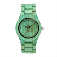 Мода зеленый натуральный древесина бамбуковые часы мужчина с полной деревянной лентой серый цвет кварцевые аналоговые наручные мужские часы Reloj Para Hombre