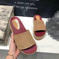 Angelina Hausschuhe Logo-detaillierte beschichtete Leinwandplattform Sandalen Damen Designer Slipper Slip Sommer Bunte Patentmonogramme Leder Flip Flop