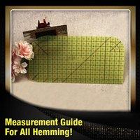 Regla de medición de planchado Herramientas de remiendo resistente al calor para la ropa Hacienda de la ropa DIY Suministros de costura Nociones