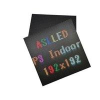 عرض حالة حالة داخلي HD RGB كامل اللون سطح جبل SMD2121 64x64 بكسل Hub75 واجهة 192x192mm LED