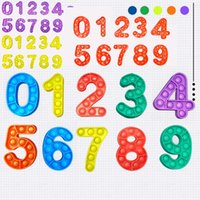 Número Push Popit Bubble Bubble Fidget Toy Sensory Stress Relieve Relieve and Ansiedad Juguetes para niños G31808