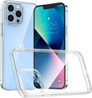 Slim Transparent Clear Case Camera Protection Silicone Phone Cases TPU Shockproof Protective Bumper Cover 1.5mm for iPhone 13 12 11 Pro Max 7 8 6s Plus