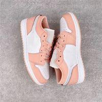 1 Low Light Arctic Pink GS Женщина Обуви Краска капельницы Женщины Повседневная Обувь Спорт и отдых Кроссовки