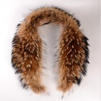 Hats, Scarves & Gloves Sets Natural Winter Dress Women's Raccoon Genuine Real Fur Collar Scarf Big Size Warp Shawl Neck Warmer Stole Muffler