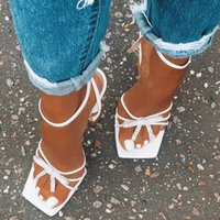 Sandals Womens Gladiator Sandal Shoes Sexy White Rhinestone High Heels Women Summer Party Slippers Dress Buckles Pumps