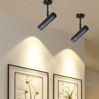 Duvar Lambası 5W12W 18 W LED Parça Işık Spot Işık Yüzey Monte Tavan Downlight Giyim Mağazası Demiryolu
