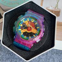 5-GA100 спортивные мужские часы силиконовые полосы многофункциональный хронограф мода светодиодный цифровой мужской и женские часы монр де Люкс