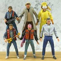 NECA Terug naar de toekomst Marty McFly BIFF Tannen Dr. Brown 7 '' Action Figure Gezamenlijk beweegbaar model Brinquedos Toy