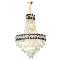 Modern Gold K9 Crystal Chandelier Lighting Luxury Lustre Home Decoration Led Lamp Luminaire Plafonnier Dining Living Room