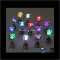Bolzen Schmuck Cool Up Led Light Ohrstecker Shinning Ohrringe Bar Unisex Modeschmuck Geschenk Für Frauen Damen Mädchen Geschenke PS1555 Drop Lieferung 2