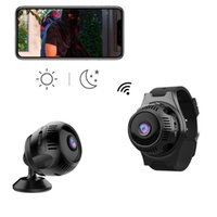 Camcorders X7 Webcam Camera 4K WIFI Mini Cam Night Vision Wide-Angle Wearable Watch Sport Wireless Home Security
