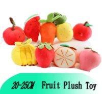 الفاكهة أفخم لعبة رياض الأطفال الكرتون الفراولة الموز أبل الجزرة الأناناس وسادة سادة محاكاة دمية gyq