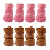 Dog Apparel Plush Shoes Winter Warm Pet For Small Dogs Cats Anti-slip Puppy Snow Boots Chihuahua Yorkie Supplies Products