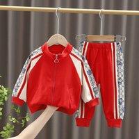 2Pcs Spring Baby Boys Girls Designer Clothes Set Coat Jacket Pants Boys Casual Costume Kids Tracksuit 1-5T
