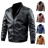 Men's Jackets Men Autumn Winter Brand Causal Vintage Leather Motorcycle Biker Male Fashion PU Cargo Coat Pockets Plus Size