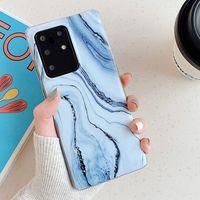 Cas de marbre pour Samsung S 21 Ultra S21 S20 Fe Note20 Note10 PRO Modèle compatible Galaxy A50 A51 A12 S10Plus S8 S8 S8PLUS Couverture de protection