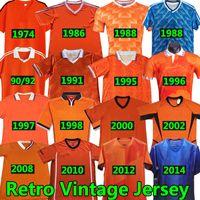 BERGKAMP Netherlands Retro Camisas de futebol 1974 86 88 90 91 92 95 96 97 98 Van Basten Hollands Camisa de futebol 2000 02 08 10 12 14 Gullit Rijkaard DAVIDS Classic Vintage