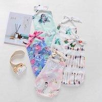 Baby Menina Romper Backless Halter Onesie Suspender Sling Jumpsuit Mermaid Cacto Floral Arrow Impressão Infantil Outfit Criança Roupas Verão