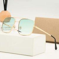 Designer Brand New Classic Sunglasses Pilot Sunglasses Moda Donna Occhiali da sole UV400 Cornice oro Specchio verde 58mm Lenti con scatola