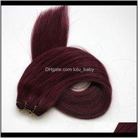Высокое качество 100 человеческих ветков прямых пучков 100 г 22 530plat красные бразильские индийские наращивания волос 4rb0n суступки4