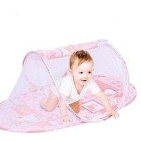 유아용 침대 여행 3 색 휴대용 접이식 야외 침대 그물 침구 유모차 다기능 모기장
