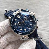 男性青い41mmセラミックベゼル最高品質の多機能メンズ高級自動時計メカニカル動き止めのない鋼鉄防水腕時計