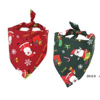 5 Style Pet Dog Christmas Bandana Cotton Dog Scarf Bibs Collar Grooming Accessories Christmas Pets Triangular Scarf Unisex RRF10977