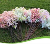 "Four Branches Each Bouquet Decorative Flower Simulation Cherry Blossom 1 m(39"") Long Wedding Arch Home Living room Decor"