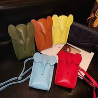 Women Luxurys Designers Cute 3D Elephant Universal Phone Pouches Wallet Key Handbag coin purse Power Bank Bag With Embossed pattern Brand Ca